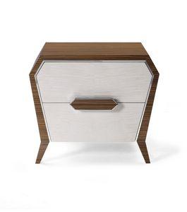 AN 741 P, Table de chevet à motif géométrique