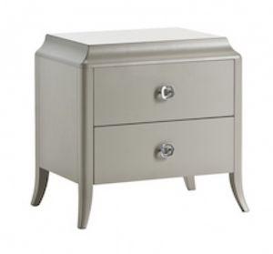 Art. VL722, Table de chevet avec 2 tiroirs, dans un style essentiel, pour la maison