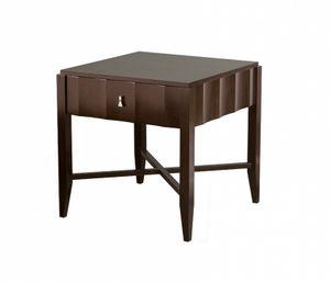 Heritage table de chevet avec 1 tiroir, Table de chevet en bois avec tiroir