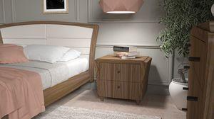 La Nuit  table de nuit, Table de chevet en bois élégante