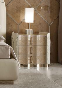 Mason table de chevet, Table de nuit en cuir et myrte