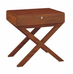 Norman table de nuit, Tables de chevet en bois pour les chambres d'hôtel