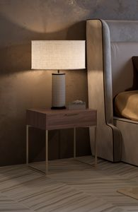 Nox table de chevet, Table de chevet au design minimal