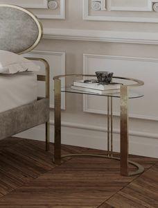 Richard, Table de chevet avec plateau en verre