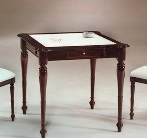 2245 table, Table avec dessus en cuir, style anglais