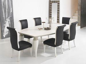 ZARA table 8360T, Table à manger avec le dessus du canon et des jambes bien formées