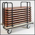 Configure-8 C.834, Table pliante pour les bureaux et les hôtels, légers et robustes