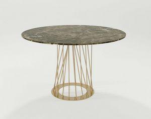 Burgos, Table avec base en fer et plateau rond