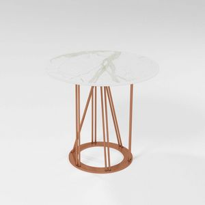Cebreiro, Table basse avec base en fer et plateau rond