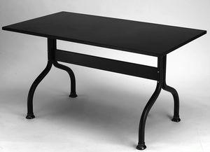 Achille, Table en métal pour jardin, 140X80 cm ou 160x85 cm