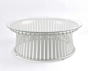 MOLLE GF4001CT-L, Table en fer avec plateau en verre