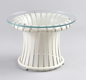 MOLLE GF4001CT-S, Table en fer avec plateau en verre, pour usage extérieur