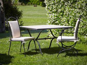 ROMBI GF4002TA-MAC, Table d'extérieur en fer et marbre