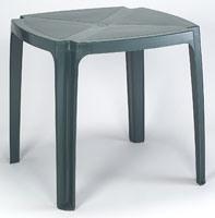 Tavolo 75x75, Table faite de résine, pour les jardins