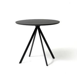 Margarita tavolo, Table ronde avec les jambes 4 en métal, avec plateau en polyéthylène