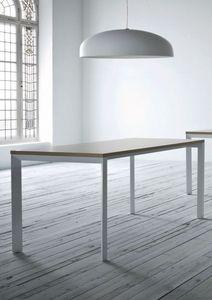 Profilo, Table en métal peint, dessus en stratifié