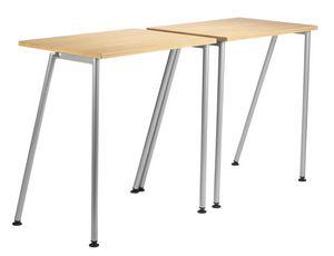 GIKO 750, Simple petite table rectangulaire avec base en métal
