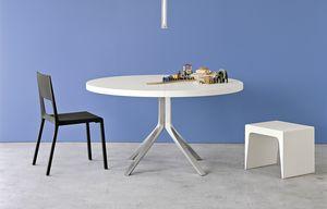 Oops, Table extensible ronde, pour la maison et le bureau