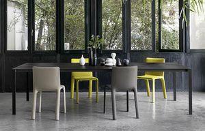 Thin-k Longo, Table design, avec dessus mince et étendu, pour bureau