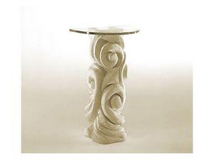 Apamea, Table avec pilier en pierre et verre