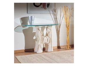 Magellano, Table avec base en pierre pour les salles de séjour, de style moderne