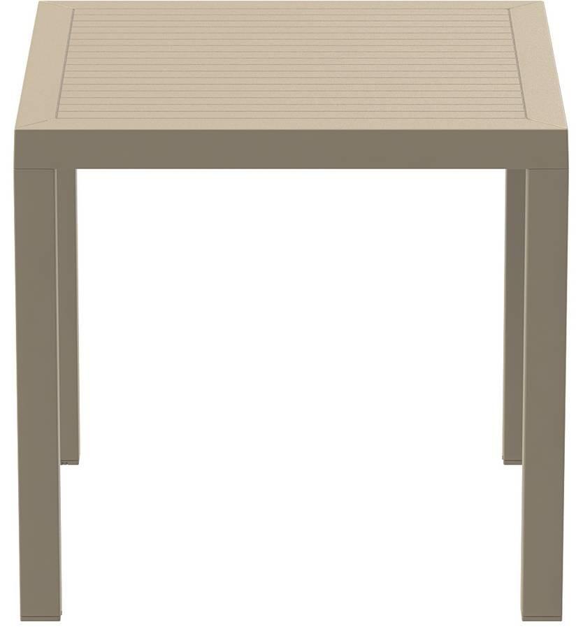 Alex 8080, Table en plastique adapté pour l'extérieur, table carrée adapté pour bar