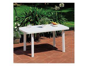 Faro, Table rectangulaire en plastique, pour une utilisation extérieure