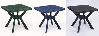 Nilo, Table en plastique imperméable à l'eau, différentes couleurs