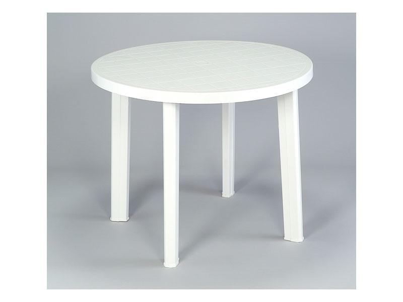 Tondo, Table ronde en plastique, pour une utilisation extérieure