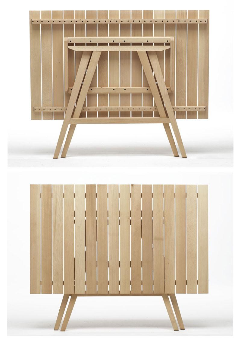 Enea Rectangular, Tables pliantes en bois, pour catering