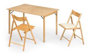 Italo, Table pliante en bois
