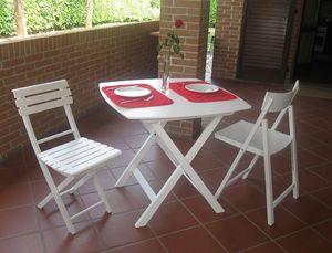 Kimono table, Table pliante en contreplaqué de hêtre