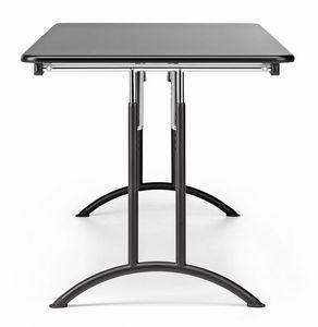 KOMBY 931, Table pliante en métal et stratifié, pour la conférence