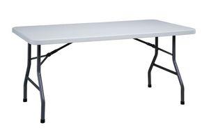 Resol.C - Mahler, Table pliante rectangulaire, en fer, pour le restaurant