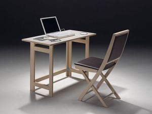 Tavolo P rectangular, Table rangeable, disponible en différentes finitions en bois
