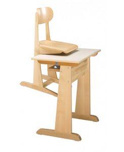 AULA/T, Beech table en bois, disponible en différentes hauteurs
