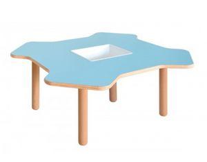 ELICA, Table en bois pour les enfants, sous la forme d'hélice