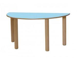 IT_S, Table en bois, avec la forme de demi-cercle, pour les enfants