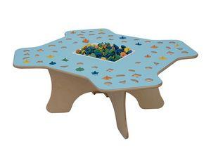 MARAMEO, Table d'enfant pour les écoles et les maternelles, structure en bois