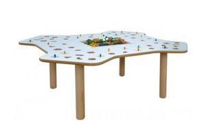 MARAMEO/G, Table d'enseignement en contreplaqué de bouleau, top lavable
