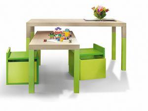 Tavolo, Table pour enfants à hauteur variable