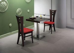 Zeus, Table avec plateau carré plaqué