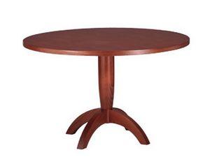 607, Table avec plateau rond, en bois de hêtre, pour la cuisine