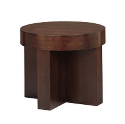 837, Table ronde linéaire, placage, pour le salon