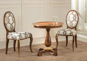Art. 3546, Table en bois, avec plateau incrusté