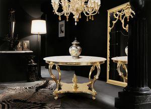 Art. 388, Table ronde avec plateau en marbre