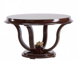 Art. VL119, Table ronde pour salle à manger, en bois peint