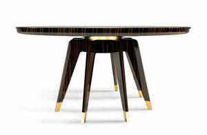 Byron, Table ronde en bois