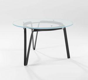 Compasso circolare alto, Table avec base forg�e � la main