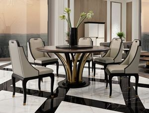 Dilan Art. D05/160, Table ronde avec base sculpturale